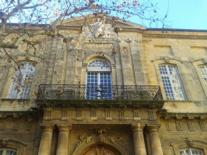 The front of our beautiful university, Science Po-Aix